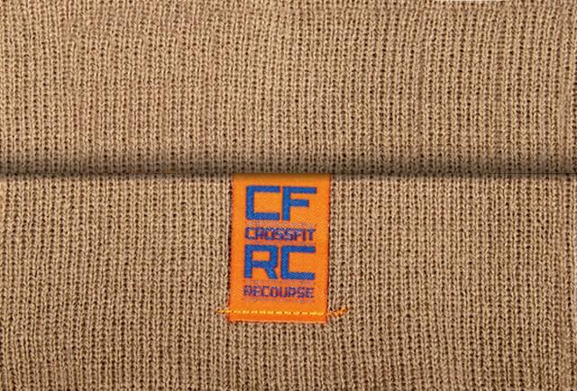 Custom applique woven clip label