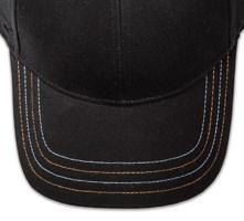 Pukka hat, visor stitching, 4 rows, 4 contrast stitch, 2 colors alternating