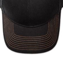 Pukka hat, visor stitching, 8 rows, 8 contrast stitch, 1 color