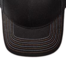 Pukka hat, visor stitching, 8 rows, 8 contrast stitch, 2 color