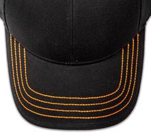 Pukka hat, visor stitching, 4 rows, 4 thick stitch, 1 color