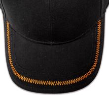 Pukka hat, visor stitching, 4 rows, zig-zag stitch, 1 color