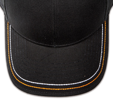 Pukka hat, visor stitching, 8 rows, 2 thick hand stitch, 2 color