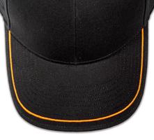 Pukka hat, visor stitching, 8 rows, 1 thick satin stitch, 1 color