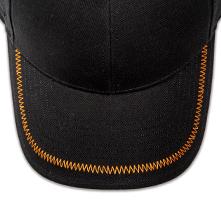 Pukka hat, visor stitching, 8 rows, zig-zag stitch, 1 color