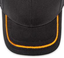 Pukka hat, visor stitching, 4 rows, 1 rope stitch, 1 color