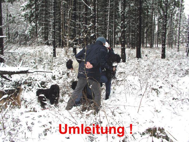 Puli Winterwanderung in Belg Umleitung