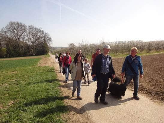 Frühlingswanderung der Landesgruppe Mitte in Gau Algesheim 8