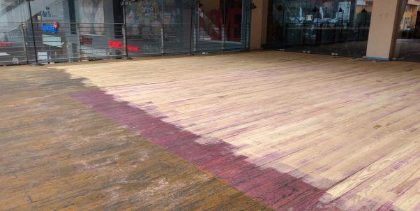 lijado de pisos de madera y tablón
