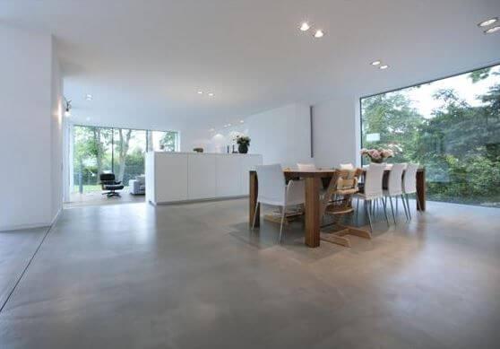 piso de concreto pulido y abrillantado