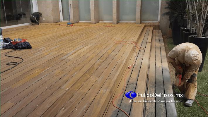 lijado y pulido de madera