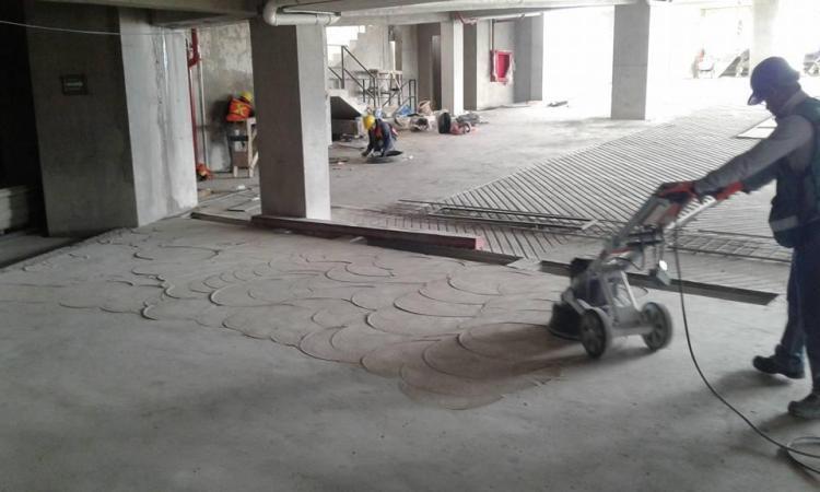 desbastado y pulido de concreto
