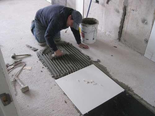 piso de cerámica para baños