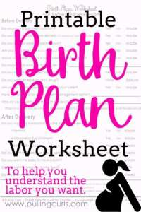 Birth Plan Template: Flexible Birth Plan for Success!