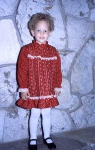 Hilary Erickson at age 3