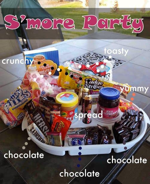 Doing a S'More party is a fun way to have friends over and cater to all their tastes in a fun way!