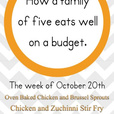 A healthy budget friend meal plan for October.