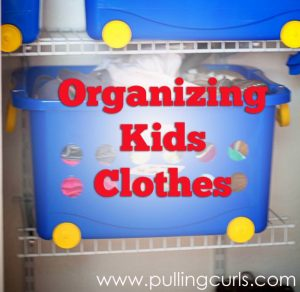 Come see how she organizes her kids clothes, so they don't overtake her home (becuase you know they will).