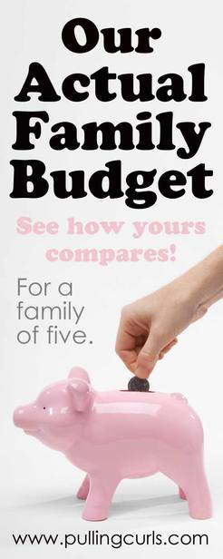 You're going to to get tons of budgeting tips as you check out my actual family budget for our family of five! via @pullingcurls
