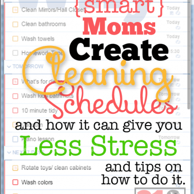 Why should I have a cleaning schedule? Will it cause more stress? Smart moms know it WON'T cause more stress, it will even take some away! Quickly, clean and get on with life!