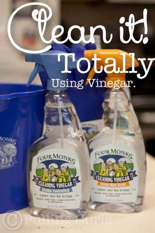 Want to CLEAN something, and leave no residue or chemicals behind? Try Vinegar!