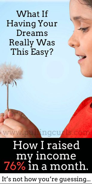 From month to month my income increased by 76%. Was it 80 hour work weeks or selling my soul on ebay. No, it was good old fashioned vision, attitude and tweaking my thought process. Come find out how. via @pullingcurls