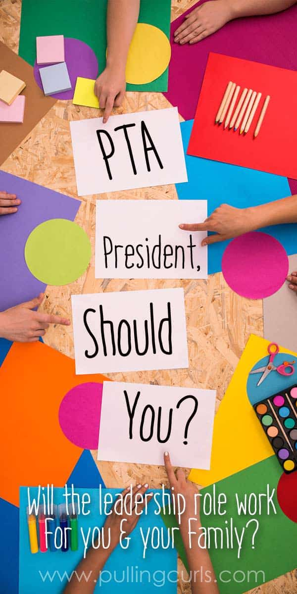 Should you or shouldn't you? This PTA story leads you through the triumphs and failures of my year as PTO president. Come find out if it's for you. via @pullingcurls