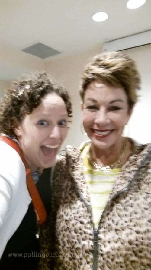 A horribly blurry picture of Carol & I (we're BFF's, can you tell?)