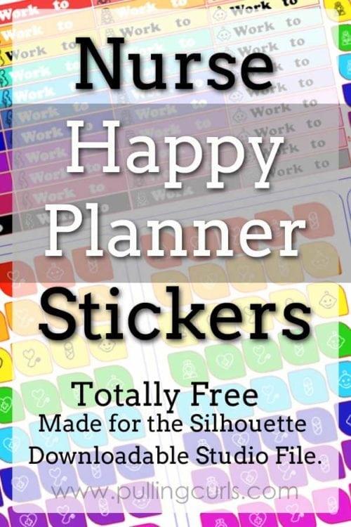 Nurse Happy Planner Stickers | Erin Condren | silhouette