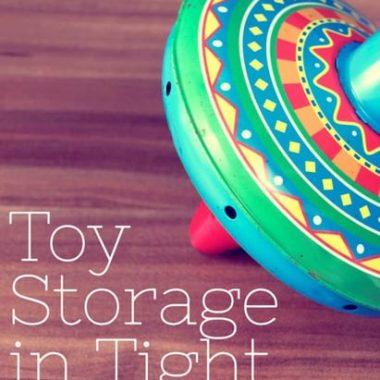 Playroom Organization Ideas:  Toy storage hacks in small spaces