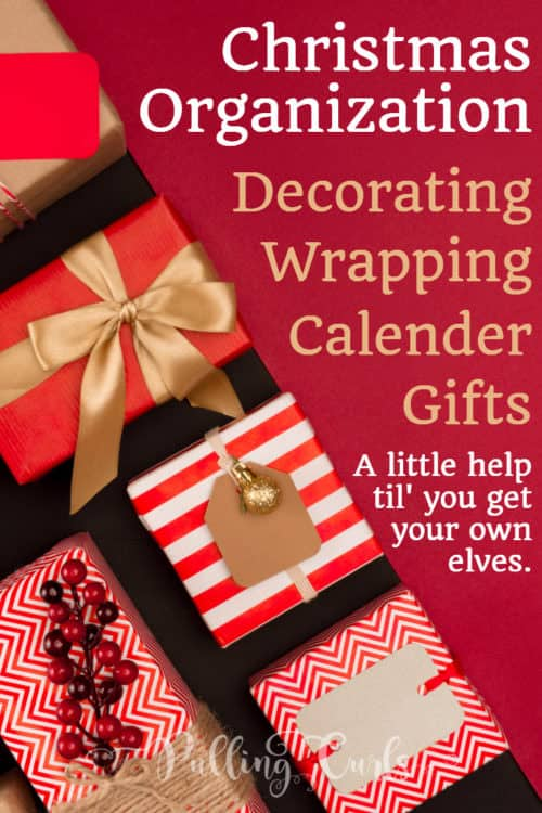 Christmas organization / holidays / wrapping / gifts / free printable