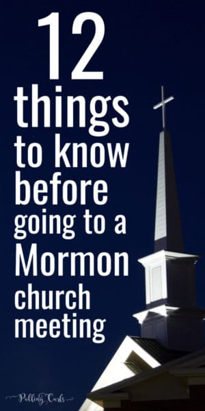 What to expect when you go to an LDS church