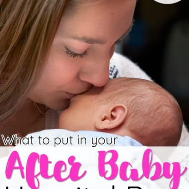 What to pack in hospital bag for mom after delivery