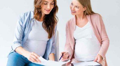 women in a prenatal class