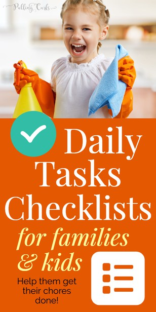 help your kids get stuff done by creating a checklist of the things they do weekly!