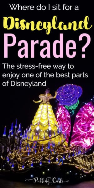 where to sit for a Disneyland parade?