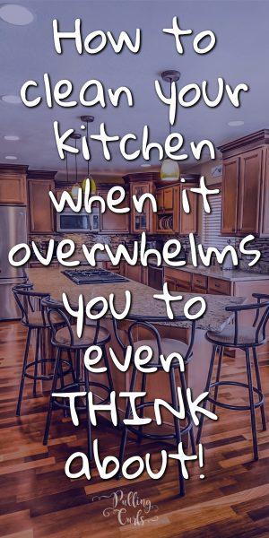 Dirty kitchen.