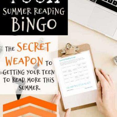 Teen Summer Reading Bingo