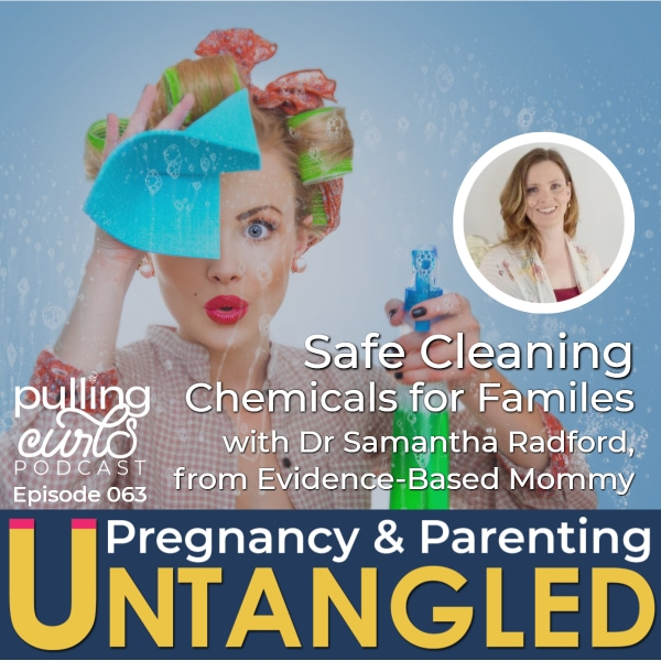 woman cleaning / podcast cover