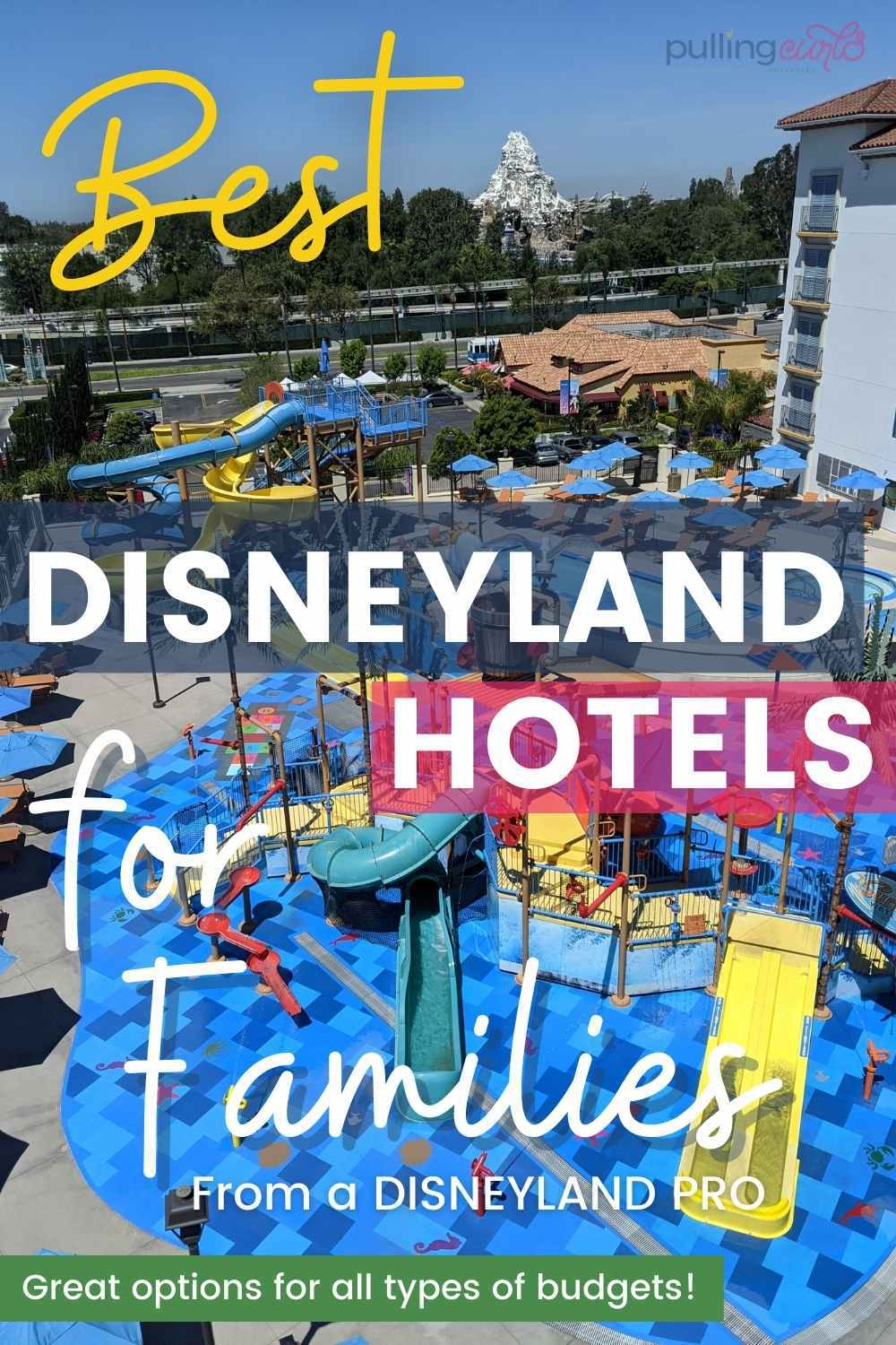 Looking for a Disneyland hotel that has everything you need -- we've got free breakfast, bunk beds, awesome outdoor pools. These best hotels are an awesome pick for your Disneyland vacation! via @pullingcurls