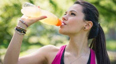 pregnant woman drinking gatorade