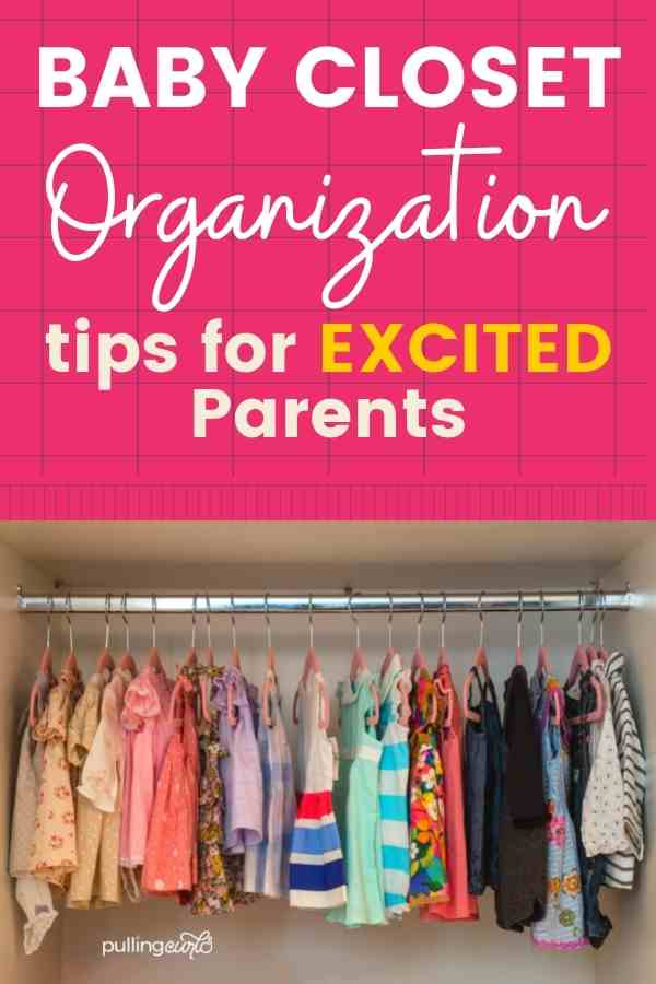 Let's give you some organization ideas for baby's things. One of my fondest memories of having a new baby was finding a great way to store their things (and enjoying all those cute little things). It really isn't going to take much time, so let's organize the baby's closet & the things you'll need for your newborn. via @pullingcurls