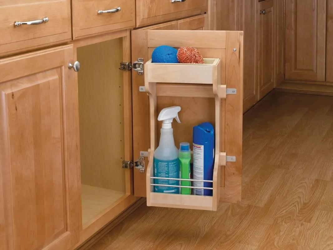 under kitchen sink storage square oak table rev a shelf 4sbsu 18 natural wood series base