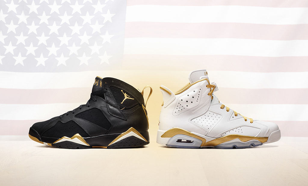 the best attitude eb211 a23b0 Dubbed the Golden Moments Pack, this set includes an Air Jordan 6 in white  and gold and an Air Jordan 7 in black and gold.