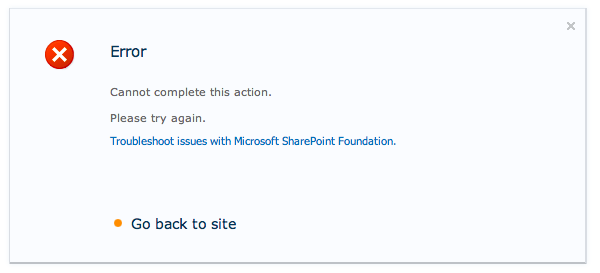 Worthless SharePoint Error