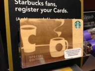Cache of wooden SBUX cards