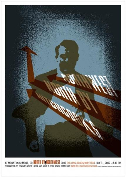 """NORTH BY NORTHWEST"" Poster Artist: Jeff Kleinsmith"