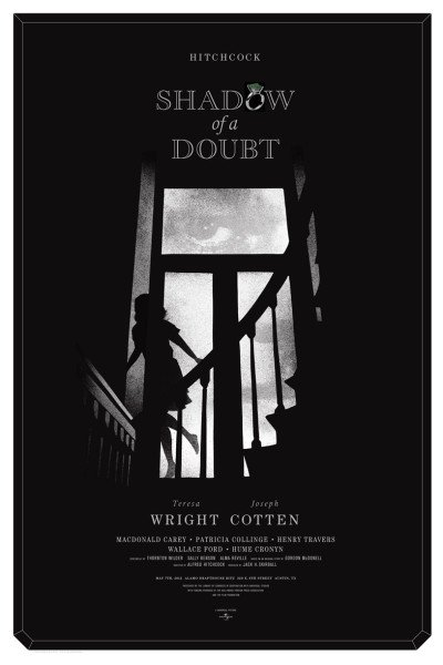 """SHADOW OF A DOUBT"" Poster Artist: Alan Hynes"