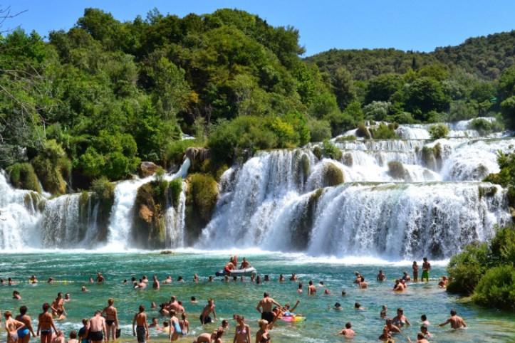 The Skradinski Buk waterfall at the Krka National Park (source – Pulped Travel)