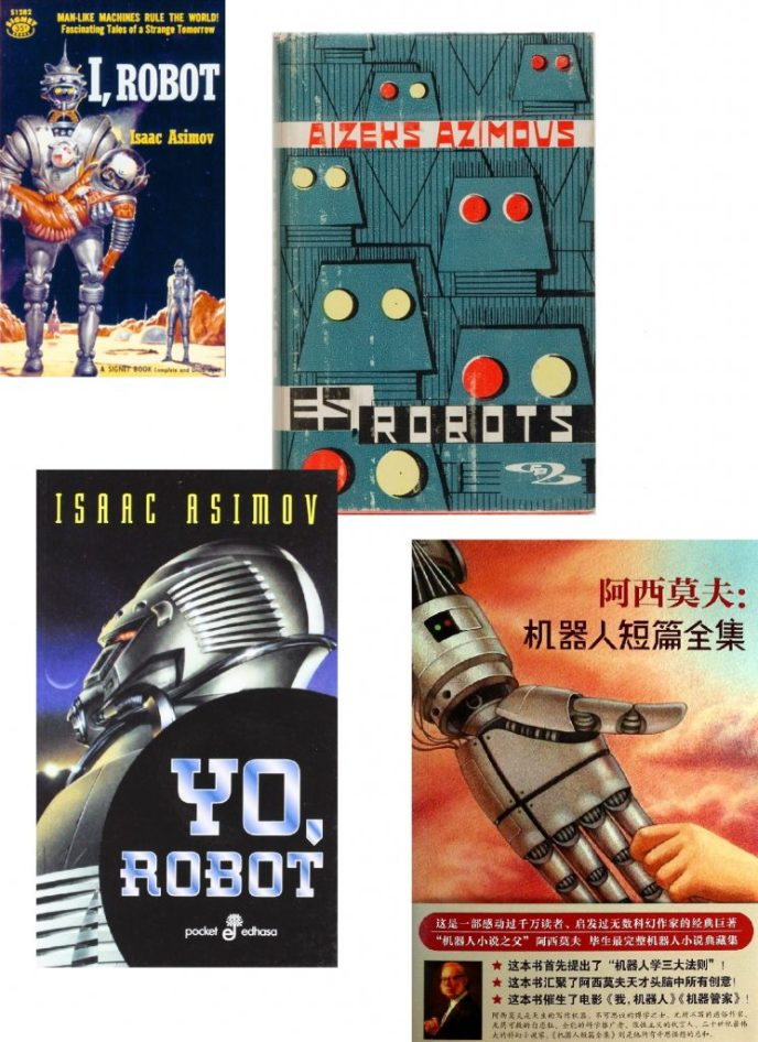 "INTERNATIONAL EDITIONS OF ""I, ROBOT"" BY ISAAC ASIMOV"